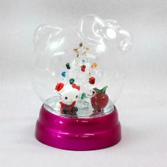 クリスマス オブジェ ハロー キティ ドーム(アップル)置物 キャラクター かわいい