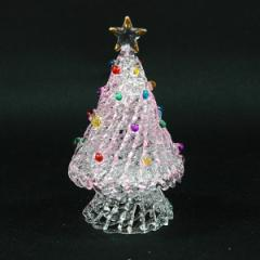 クリスマス ツリー 飾り スパンツリー Pink M インテリア ガラス