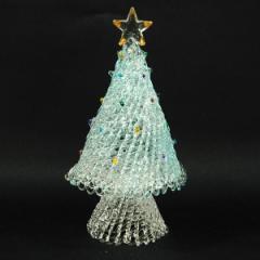 クリスマス ツリー 飾り スパンツリー Blue L インテリア ガラス