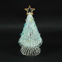 クリスマス ツリー 飾り スパンツリー Blue M インテリア ガラス