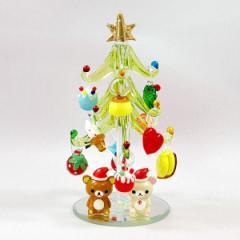 リラックマ ガラスツリー GREENクリスマス プレゼント 雑貨