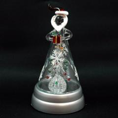 クリスマス ツリー ガラスドームツリーM ライト付 サンタ
