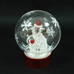 クリスマス 雑貨 飾り オブジェ ガラスドームSS ライト付サンタ