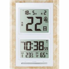 掛け置き兼用時計 デジタル日めくり電波時計 掛時計 置時計 電波時計