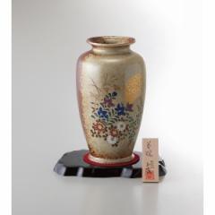 8号壺花瓶 金月秋草 美濃焼 インテリア 和 置物 贈り物に最適