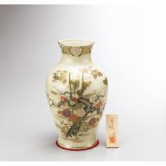 貫入10号花瓶 寿竹 美濃焼 インテリア 和 置物 贈り物に最適