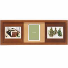 結婚祝い おしゃれ 写真立て 木製フォトフレーム 3窓結婚祝い ギフト 贈り物に最適