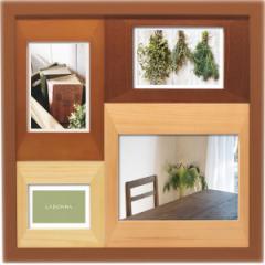 結婚祝い おしゃれ 写真立て 木製フォトフレーム 4窓結婚祝い ギフト 贈り物に最適