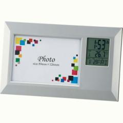 フォトフレームクロック ワイド写真立て 時計