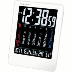 置時計 アデッソ カラーカレンダー電波時計 電波時計