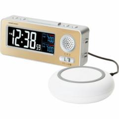 置時計 アデッソ 振動式目覚まし電波時計 電波時計 目覚まし時計