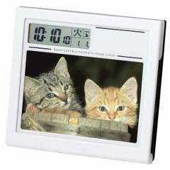 フォトフレーム電波時計 No20クロック 写真立て カレンダー