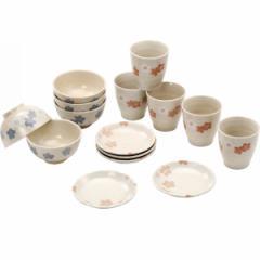お茶碗 小皿 湯呑和桜 食卓15点揃和食器 セット 磁器