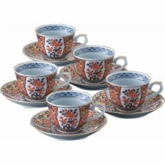 珈琲碗皿5客揃 極上古伊万里 食器 コーヒーカップセット