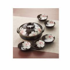 土鍋 皿桜花8号鍋セット 萬古焼 調理器具