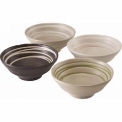 皿和風ラーメン鉢4個組食器 器 キッチン用品