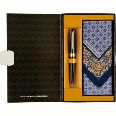 レオポルド・バレンチノ ボールペン&紳士ハンカチセット 筆記 贈り物/LV500BH-H 名入れ可
