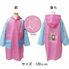 雨具 カッパレインコート キャラクター EVA ディズニー アナと雪の女王 ピンク 120cm子供用