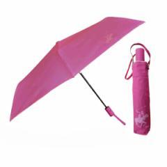 自動開閉折りたたみ傘 ピンク 55cm ビバリーヒルズポロクラブ BHPC 男女兼用