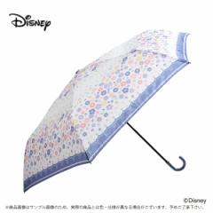 傘 レディース 雨傘 55ラプンツェル 花飾りディズニー キャラクター 手動式
