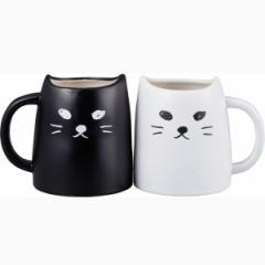 結婚祝い ペアマグ 黒ねこと白ねこ アニマルティー 誕生日 面白い 猫好き