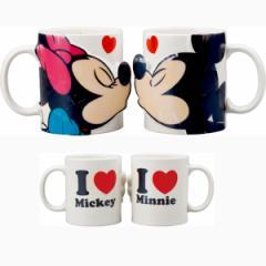 ディズニー 結婚祝い ペア ペアマグ キス ミッキーマウス&ミニーマウス ディズニー かわいい めおと プレゼント