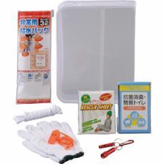 防災帰宅困難レスキュー8点セット携帯トイレ ロープ ホイッスル 給水バッグ