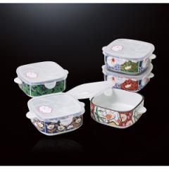 絵変り鉢セット 古伊万里風 手付ノンラップ鉢5個組 セット