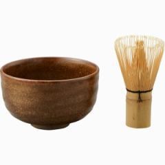 和陶器 有田焼 隆泉窯 黄地抹 茶碗 (茶筅付)