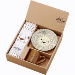 洋陶器 Mikke タオル付モーニングセット マグカップ 皿 セット