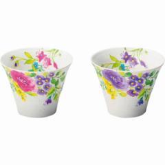 洋陶器 パルテール ペアカップ コップ 花柄