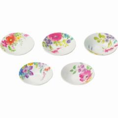 小皿 洋陶器 パルテール 小皿5枚揃 食器 セット 花柄