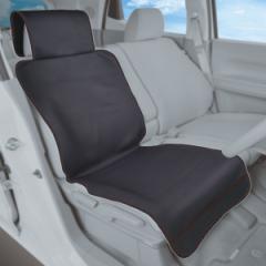 セイワ:アクティブシートカバー 車用 汎用 防水 ブラック エプロン型/ND114