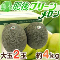 """【送料無料】熊本産 """"肥後グリーン"""" 秀・優品 特大2玉 約4kg【予約 5月末以降】"""
