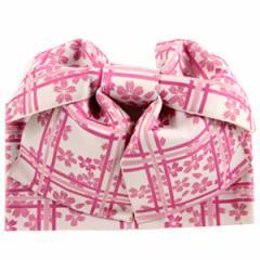浴衣用結び帯 -90- 女性用 ピンク/桜柄