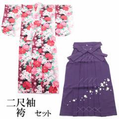 袴セット -3- 二尺袖着物/袴/長襦袢 女性用 155-170cm 赤/エンジ