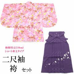 袴セット -6- 二尺袖着物/袴/長襦袢 女性用 袴専用身丈 108cm ピンク
