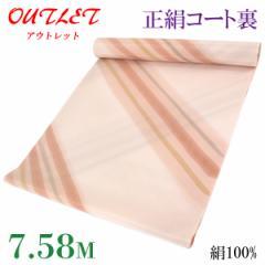 コート裏 -30- 正絹 羽二重 友禅染め 絹100% 38.5cm×7.58m 肌色