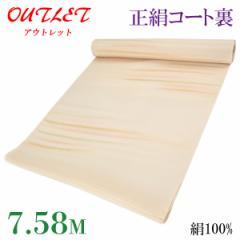 コート裏 -33- 正絹 羽二重 友禅染め 絹100% 38.5cm×7.58m 薄香
