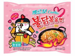 ★新商品★ カルボ ブルダック 炒め麺 (辛口) 130g *韓国食品*韓国ラーメン*激辛*カルボナーラ