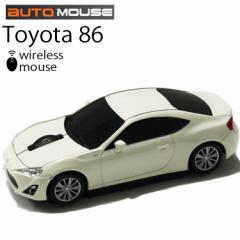 送料無料 AUTOMOUSE オートマウス TOYOTA86 ホワイト トヨタ86型ワイヤレスマウス 2.4GHz