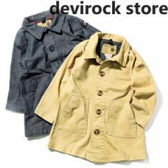 子供服 [ツイル&デニムステンカラーコート 上着 羽織り 防寒] アウター ×送料無料 M0-0