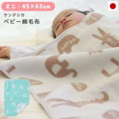 綿毛布 ベビー毛布 ベビー サンデシカ 日本製 ミニサイズ 45×65cm 綿100% 綿 コットン お昼寝 ブランケット かわいい ケット