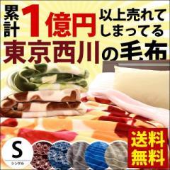 毛布 東京西川 衿付き 2枚合わせ マイヤー毛布 シングル 140×200cm 約1.8kg あったか もうふ 掛け毛布 西川 ふっくら