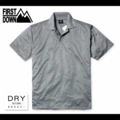 7ed224bfb1a84 メンズ ポロシャツ 半袖 FIRST DOWN ファーストダウン 吸汗速乾 メッシュ 無地 紳士【メール便