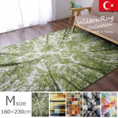 ラグカーペット  約2畳 ルームマット ウィルトン織ウィルトンラグ   5柄から選べるラグ サイズ約160×230cmMサイズ  一人暮らし