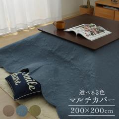 こたつ 上掛け 長方形 マルチカバー ソファカバー ベッドスプレッド 約200×200cm 「 ペイズリー 」ベージュ ブルー グリーン m&c5 イケ