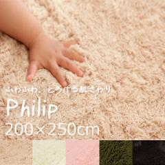 ラグ カーペット 3畳  フィリップ 200×250cm(3畳)(IB)ホットカーペットカバー 一人暮らし長方形床暖房ラグカーペットマット