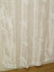 レースカーテン 一人暮らし カーテン イルカレース 注文加工品HK200×203  cm 1枚ホワイト送料無料