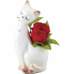 父の日 ギフト インテリア プティキャット(プリザーブドフラワー)(レッド)(bC‐2215) / お花 インテリア 雑貨 メモリアル 記念